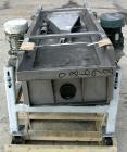 USED: Sweco full flow rectangular separator, stainless steel. 18