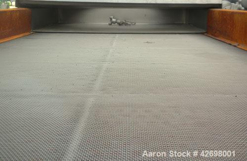 """Used- Witte Screener, 304 Stainless Steel. 35"""" Wide x 52"""" long, 2 separations. Includes a 24'' long section of intake cover...."""