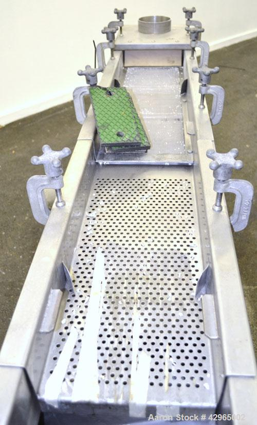 "Used- Witte Screener, 304 Stainless Steel. 9-1/2"" Wide x 72"" long, 2 screening sections, (1) overs section, 3 total separati..."