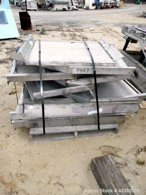 """Used- Witte Classifying Screen, Stainless Steel. Approximate 36"""" x 105"""", 2 deck classification. Includes spare screen."""