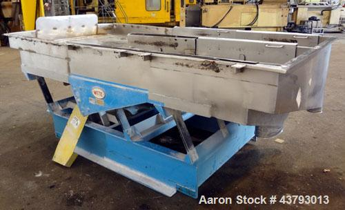 "Used- Witte 2 Deck Classifier, 304 Stainless Steel. Approximately 61"" x 108"" long, dual screening sections with removable sc..."