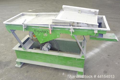 """Used- Witte Screener, 304 Stainless Steel. 22"""" Wide x 64"""" long. 3 Separation with (2) perforated sections. Driven by a 1/2hp..."""