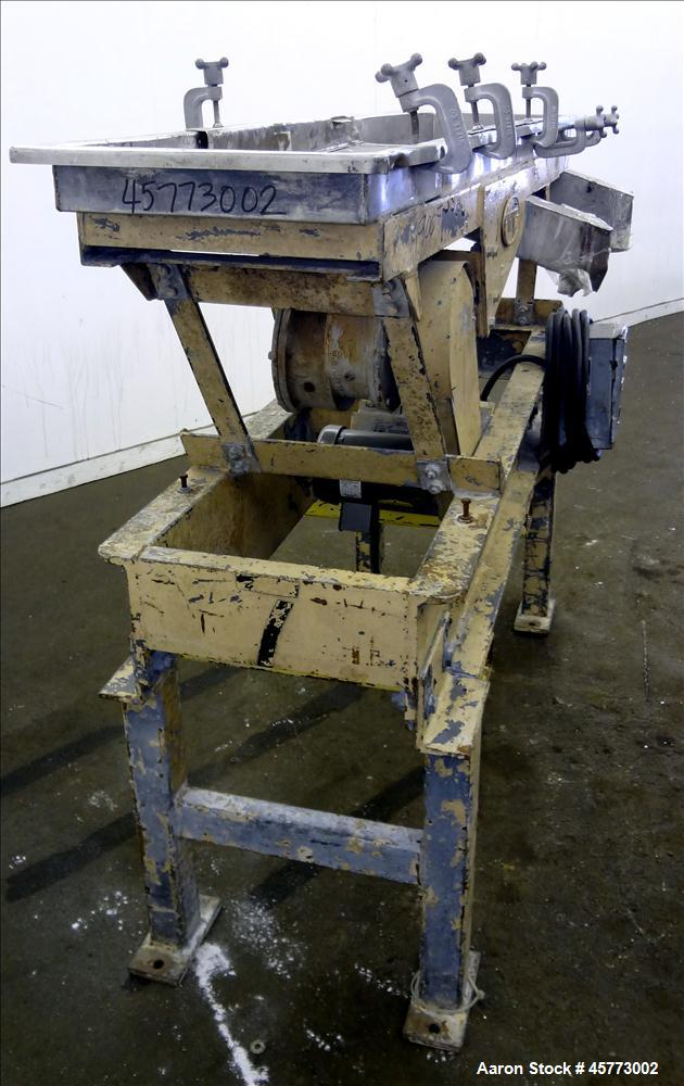 """Used- Witte Screener, 304 Stainless Steel. Single Deck, 2 separation. Approximately 16"""" wide x 31"""" long screen section. Driv..."""
