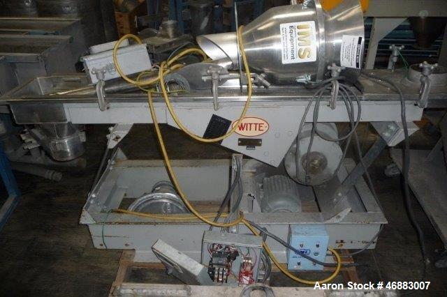 """Used-WITTE STAINLESS STEEL 2-DECK CLASSIFIER WITH 10"""" X 54"""" SCREEN DECK."""