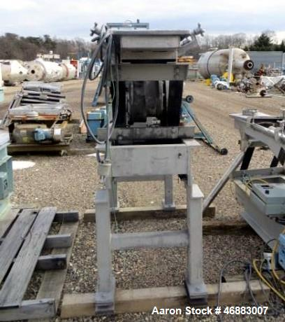 "Used-WITTE STAINLESS STEEL 2-DECK CLASSIFIER WITH 10"" X 54"" SCREEN DECK."