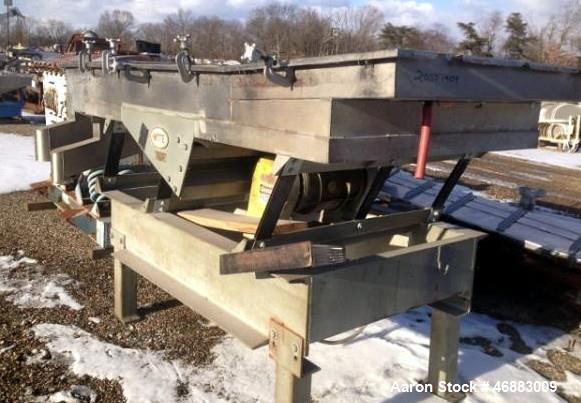 """Used-WITTE STAINLESS STEEL 2-DECK CLASSIFIER WITH APPROXIMATELY 48"""" X 96"""" SCREEN DECK.  NO SCREEN INCLUDED"""