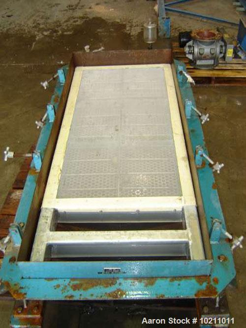 """Used-Two Deck Young Screener, 24"""" x 48"""", size #20B. Screener is a two deck with carbon steel pan, nominal size 24"""" x 60"""". To..."""