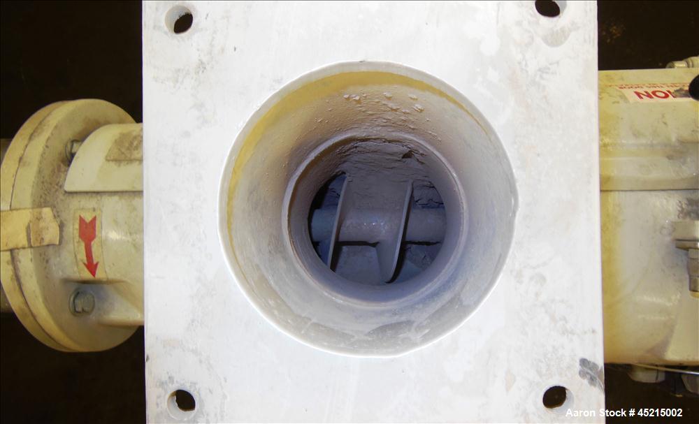 "Used- Azo Cyclone Screener, Model E-240-B1, aluminum product contact parts. Approximately 4"" diameter x 8"" long screen chamb..."