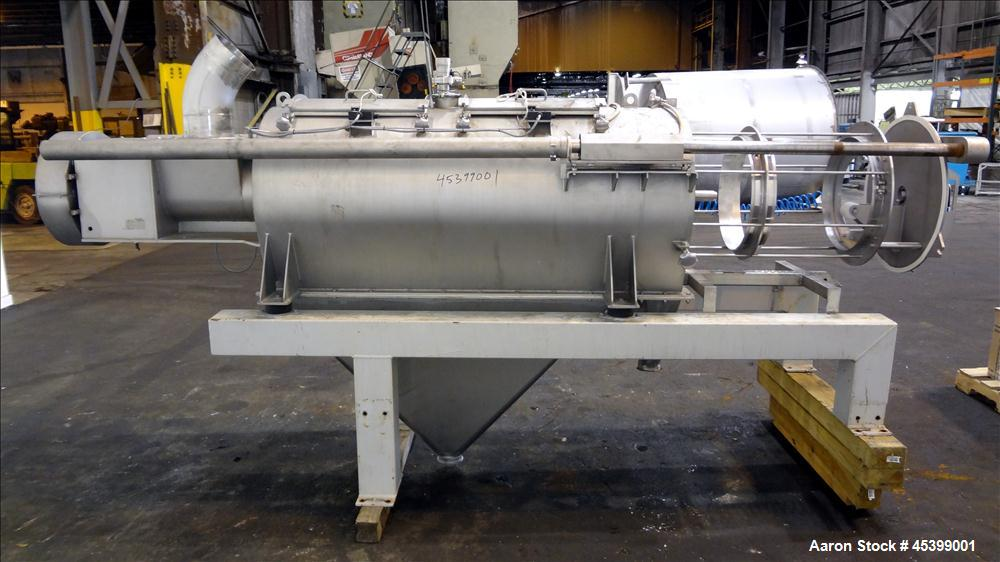 Used- Stainless Steel Dinnissen Rotary Sifter, Model 322-485-1500