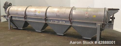 Unused- EBM Manufacturing Gentle Roll Single Drum Cleaner/Sifter, Model 24-4-HB-G-FS, the outside is Aluminum and the inside...