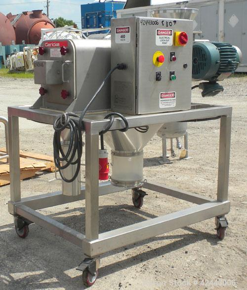 """Used- Gericke Centrifugal Sifter, Type CSM 722 MK2, 316 stainless Steel. Approximate 6"""" diameter x 22 long screen chamber, (..."""