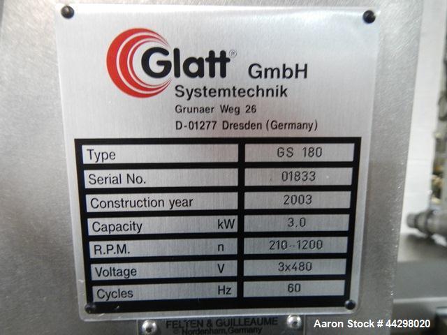 Used- Stainless Steel Glatt Quick Sieve Mill, Model GS 180