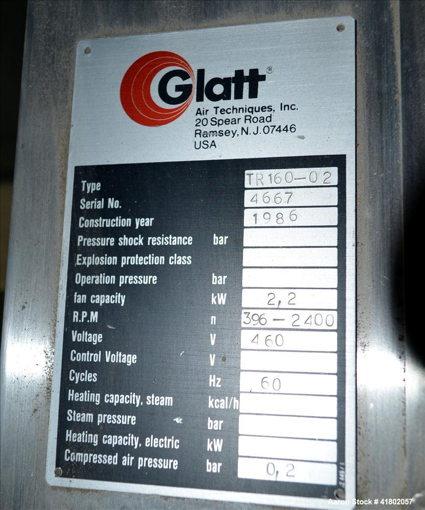 Used- Stainless Steel Glatt Quick Sieve, Model TR160-02