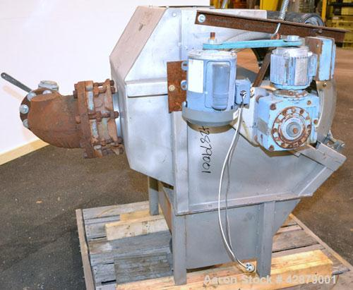 "Used- Hycor Rotostrainer Automatic Wedgewire Screen, Model RSA2524-1, Type 2524-1 X .020, 304 Stainless Steel. 25"" Diameter ..."