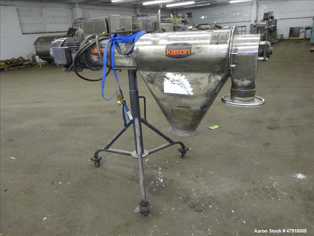 """Used- Kason Centri-Sifter, 304 Stainless Steel, Approximate 9-1/2"""" diameter x 24"""