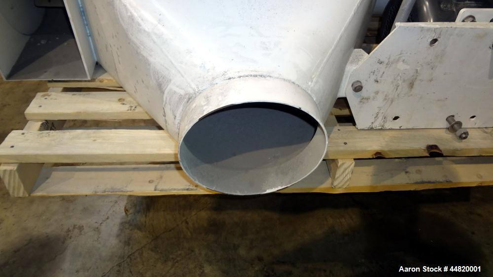 "Used- Kason Centri-Sifter, Model Y0B-CS. Carbon steel housing.  Approximately 10"" diameter x 30"" long 316 stainless steel we..."
