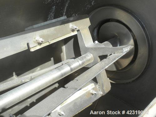 """Used- Kason Centri-Sifter, 304 Stainless Steel. Approximate 10"""" diameter x 22"""" long rotor with (4) helical blades with brush..."""