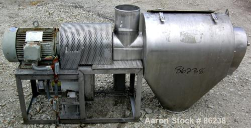 "USED- Kason Centri-Sifter, 304 Stainless Steel. Approximate 12"" diameter x 24"" long screen section, (4) helical blades. Appr..."