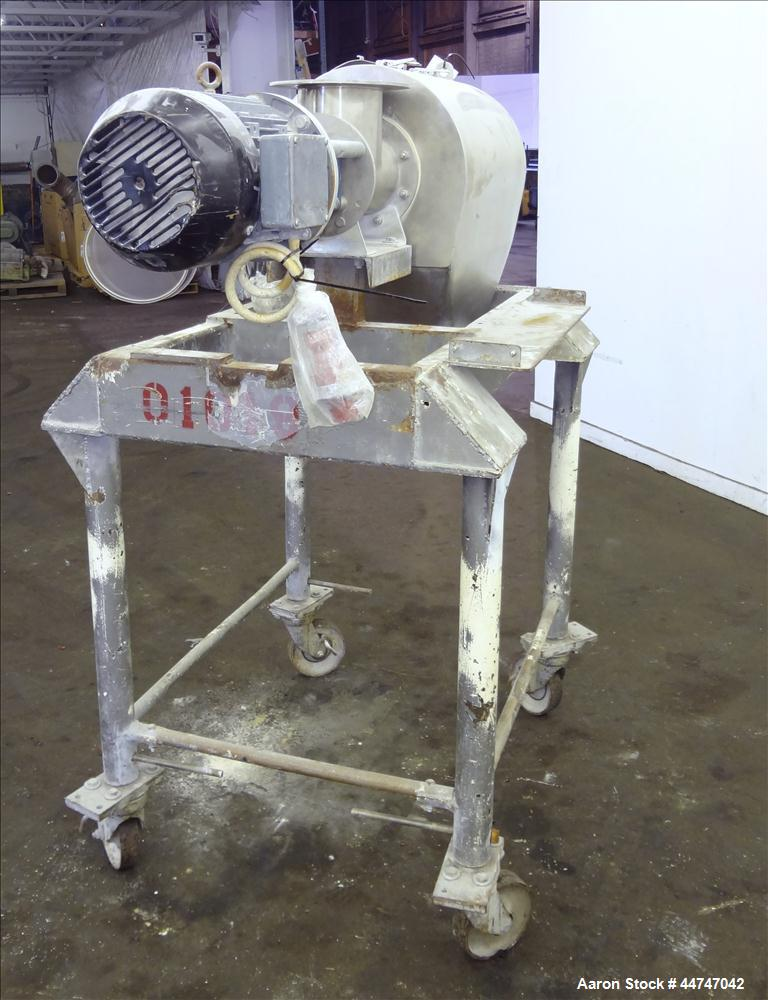 "Used- KEK Gardner Centrifugal Rotary Sifter, 304 Stainless Steel. Approximate 10"" diameter x 21"" long sifting area, missing ..."