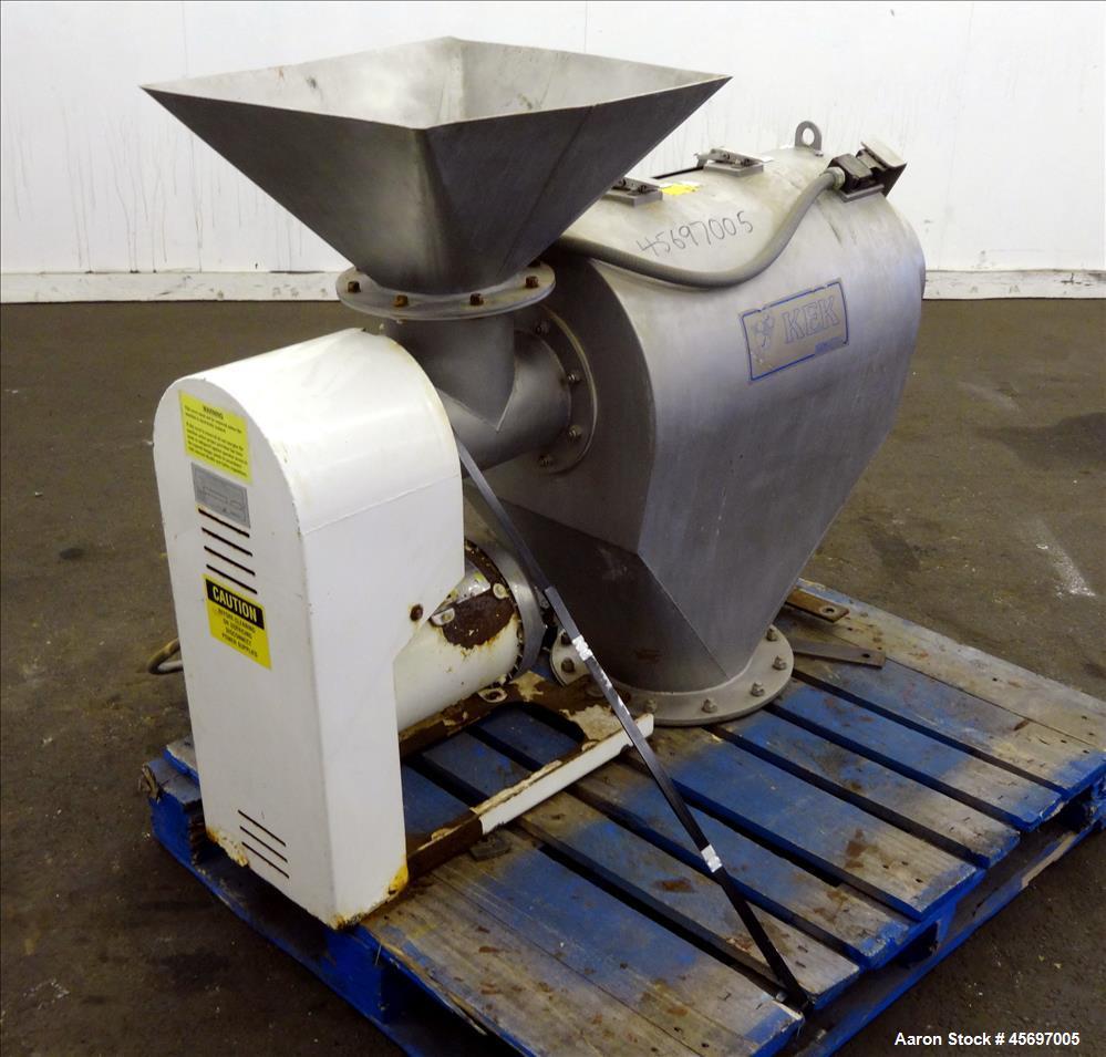"""Used- Kemutec (KEK) Centrifugal Sifter Model K-650. Approximate 12"""" Diameter x 24"""" long 316 Stainless Steel Chamber. 6"""" Diam..."""
