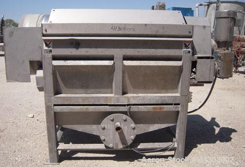 "Used- Lyco Double Drum Screener, Model DDS, 304 Stainless Steel. Approximate 24"" diameter x 60"" long inner section. Screen m..."