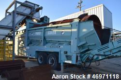 Used- Terex Phoenix 2100 Trommel Power Screener. Caterpillar diesel engine, trailer mounted. Serial# PID00176L7AD01013#, bui...