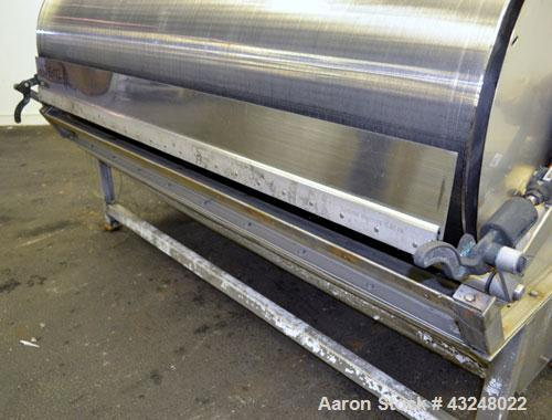 "Used- Hydrocyclonics Roto Strainer, Model 2572, 304 Stainless Steel. Approximate 25"" diameter x 72"" wide wedge wire screen. ..."
