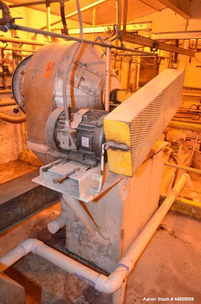 Used- Stainless Steel Constant Angle Bowl Centrifugal Sieve