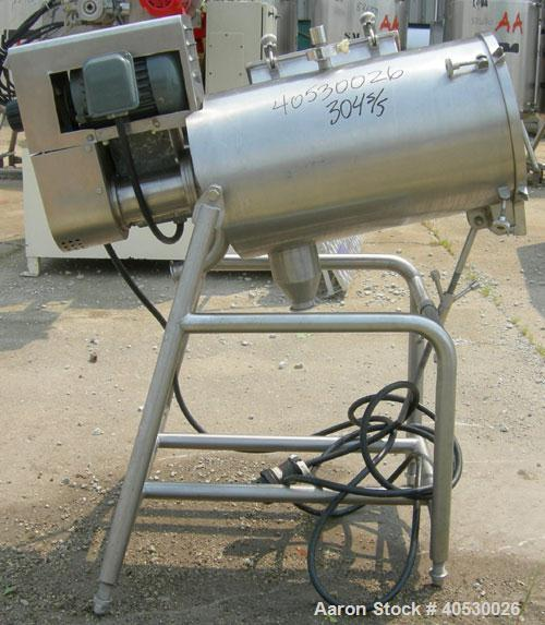 "Used- Rotary Screener/Separator, 304 stainless steel. Approximate 5"" diameter x 16"" long filter chamber with cloth. Approxim..."