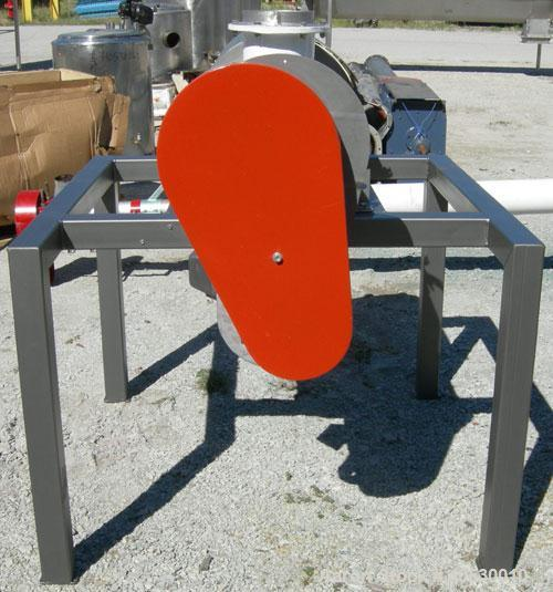 "Used- Prater Industries Rotary Sieve, 316 stainless steel. Approximate 6"" diameter x 22 1/2"" long inner section with 1/4"" di..."