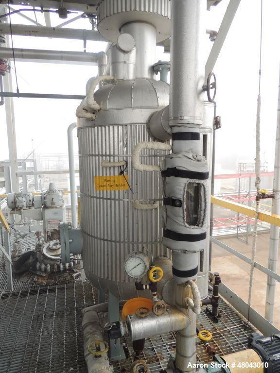 "Used- Process Manufacturing Scrubber includes 1) 254 gallon Pressure vessel 100PSI @250F. Dimensions 44""Straight side x 36""O..."