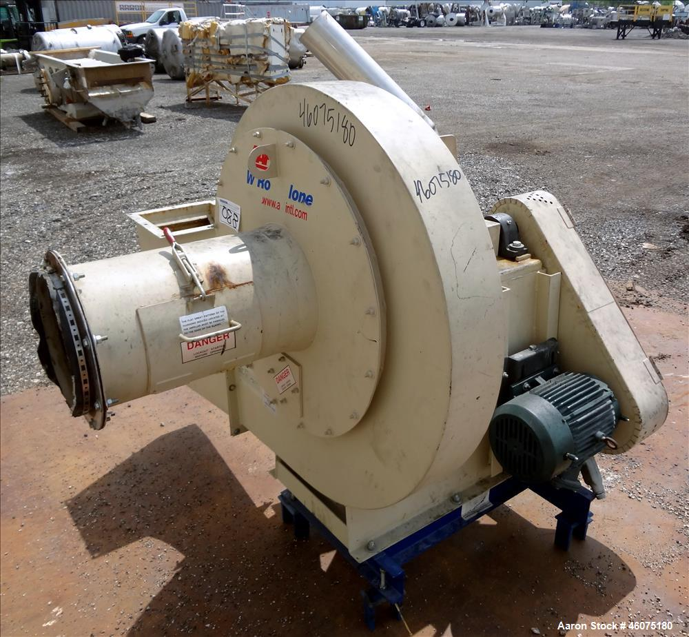 Used- AAF Type W RotoClone Wet Centrifugal Collector Scrubber, Size 12, Arrangement A, Model 846496-3, Carbon Steel. Capacit...