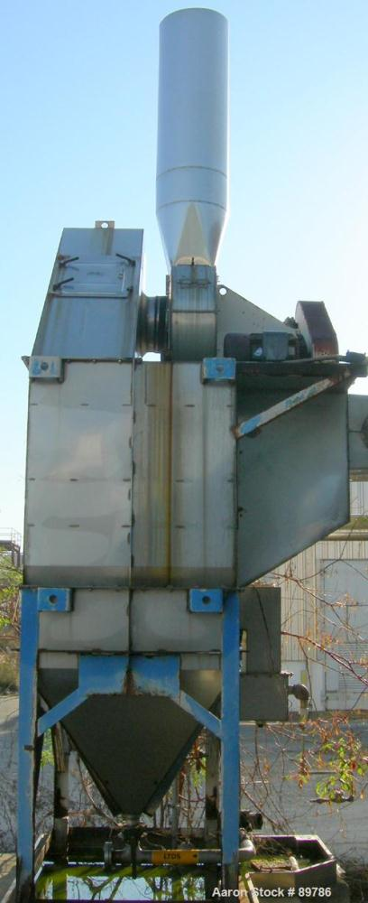 USED: AAF Rotoclone scrubber, size 8, model 1319-9-5, stainless steel. Top mounted blower. Mounted on carbon steel legs.