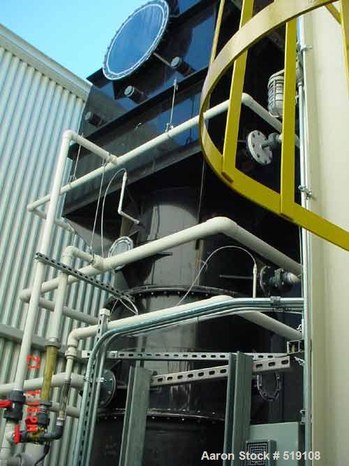 USED: Ceco scrubber filtration unit, 13,000 cfm including super-structure and enclosure; 200 ft plus stainless steel ducting.