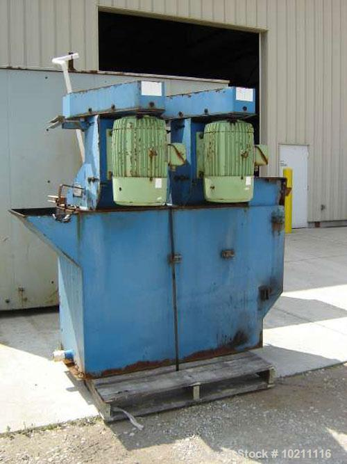"Used-24"" X 24"" X 24"" Denver 2 Cell Scrubber. Sanitation scrubber package. Material of construction is rubber lined carbon st..."