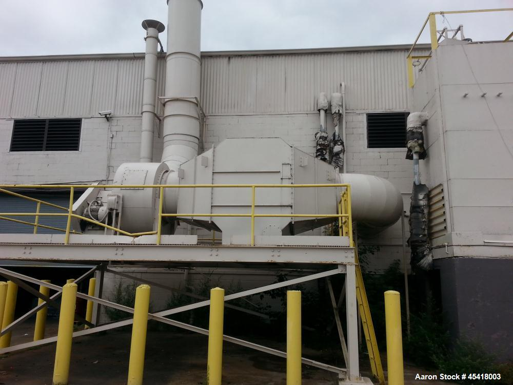 Used- PVC Fume Scrubber. Duall Model No. F-101-28 rated at 28,000 CFM at 2 inches (water) static pressure drop. Recirculatio...