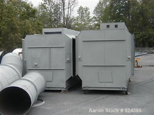 USED: KCH 40 Hedron III wet style horizontal fume scrubber, 40,000cfm. Includes 300 gallon recirculation tank, 5 hp pump, 60...