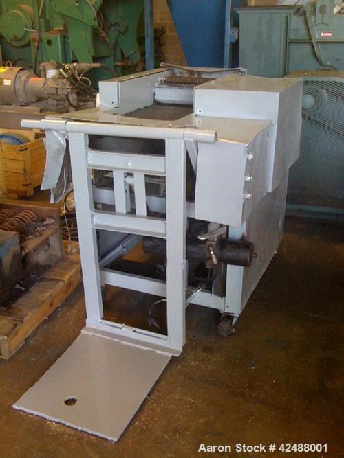 "Used- Amerishred AMS Model 750 Shredder. 16"" opening. Mounted on casters."