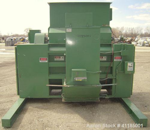 "Used- Bloapco (Blower Application Co) Shredder, model 3FCS-4058BVA, carbon steel. (4) Shaft unit, approximately 58"" x 40"" in..."