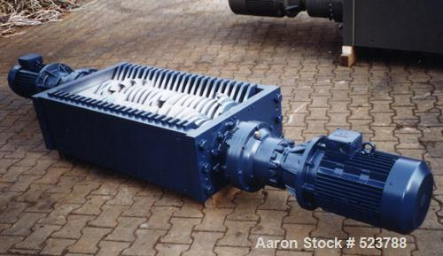 """Unused-NEW: Shredder type ES 60/120. 2 rolls rotation shredder, 2 motors each 15 kW (30 kW), cutting area 23.6"""" x 47.2"""" (600..."""