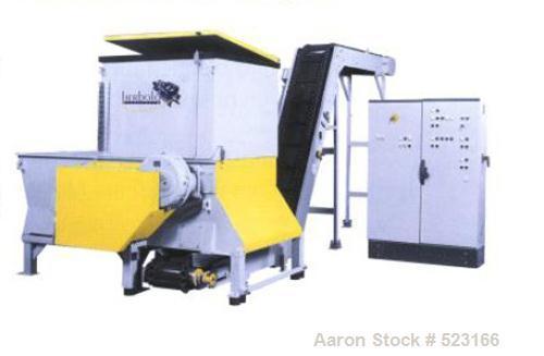 """USED: Shredder, Herbold HR122. Single shaft shredder, rotor 47.2"""" (1200mm), diameter 19.7"""" (500mm), motor 100 hp (75 kw), 10..."""