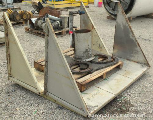 "Used- Holzmag Single Roll Shredder. Material of construction is carbon steel. 23.4"" (600 mm) diameter x 66"" (1690 mm) straig..."