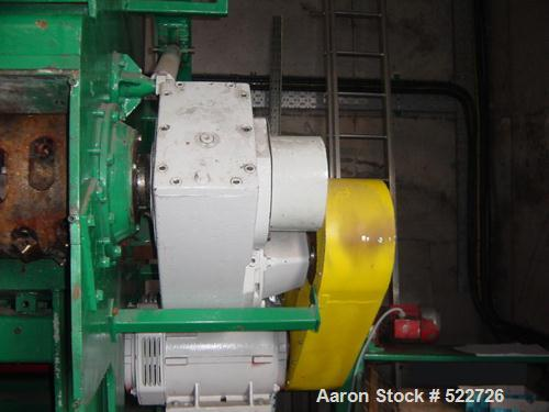 USED: Lindner MS1500 single shaft shredder. (2) 37.5 kW motors, curved pusher floor, recently re-knived. PMO.