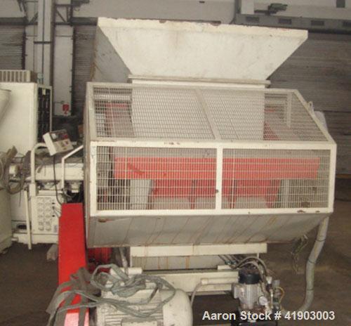 Used-Lindner RZS 1000G Single Shaft Shredder. 25 hp/18.5 kW drive, throughput 1100 lbs/hour (500 kg/h).