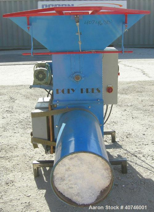 "Used- Nordfab Poly Pres shredder, model Press-O-Matic, carbon steel. 19"" x 27"" feed opening with hopper, 3/8"" thick hook sty..."
