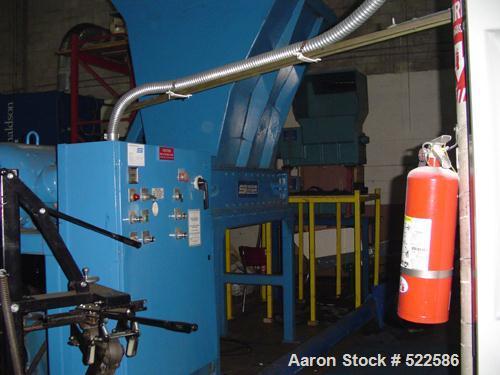 USED: SSI model 1200 slow shear shredder. Hydraulic ram feed. 75 hp.