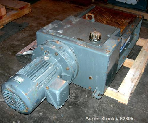 "Unused-UNUSED: SSI twin shaft rotary shear shredder, model 500E, carbon steel. (2) rows of 16 intermeshing cutters. 18"" x 19..."
