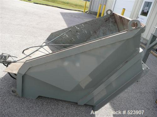 USED: 50 hp SSI shredder, model Q55-ED(40), ram feed. Previously used for medical waste shredding. Low hours.