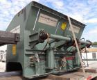 Used- Shred Pax Twin Shaft Shredder, Model AZ-160, Carbon Steel. (2) Rows of intermeshing hook knives approximately 2-3/4