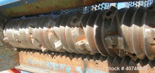 "Used- Vecoplan single shaft shredder, model VAZ 120/105C, carbon steel. Approximately 8"" diameter x 42 1/4"" wide rotor with ..."